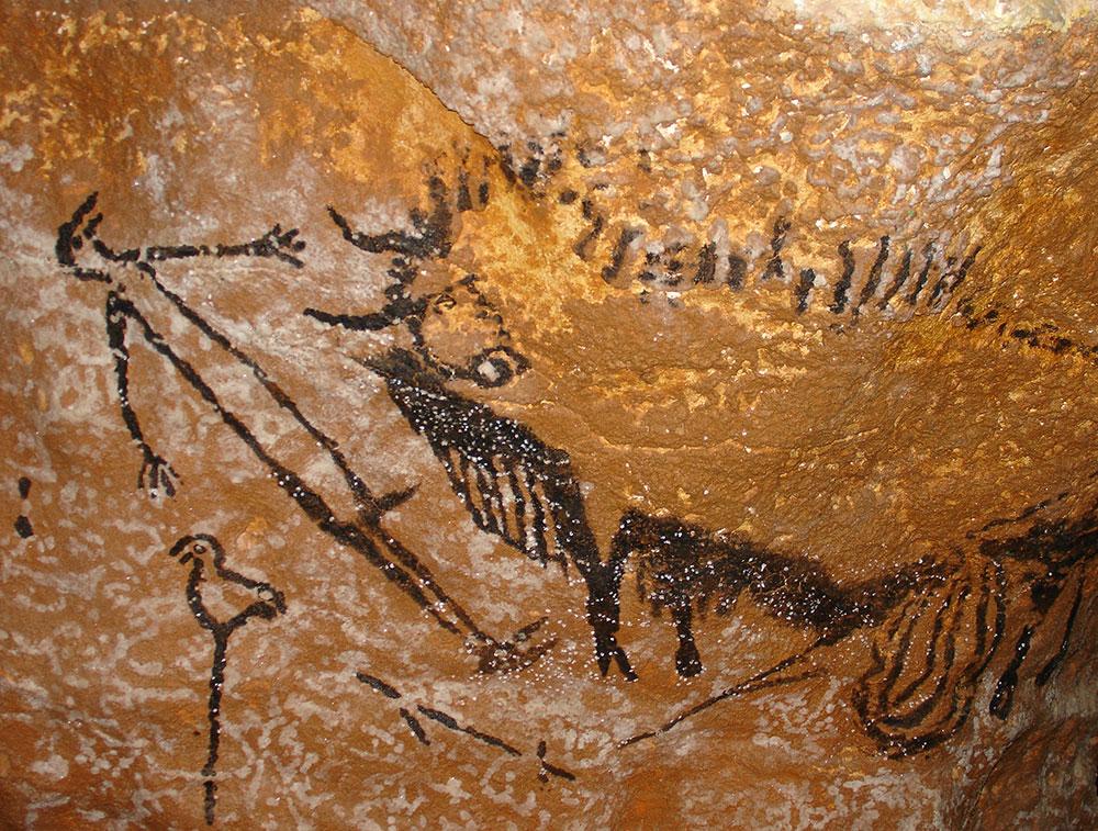 combarelles cave painting of condoms